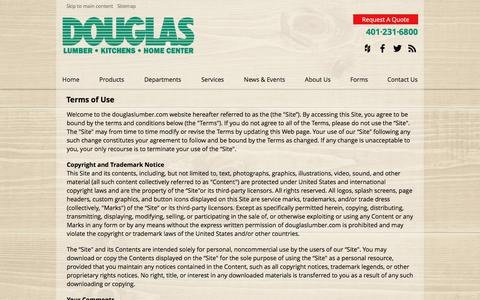 Screenshot of Terms Page douglaslumber.com - Terms of Use - captured Dec. 26, 2017