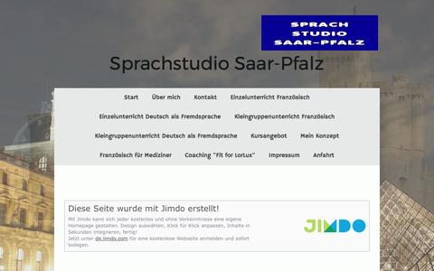 Screenshot of About Page sprachstudio.org - Impressum - Französisch lernen in Zweibrücken - captured March 31, 2017