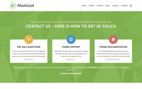 Screenshot of Contact Page momizat.com - Contact - Momizat - captured April 6, 2017