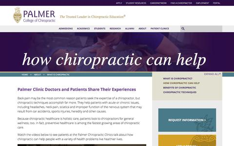 How Chiropractic Can Help