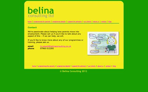 Screenshot of Contact Page belinaconsulting.co.uk - Belina Consulting - homepage - captured Oct. 5, 2014