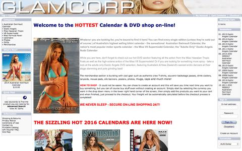 Screenshot of Home Page glamcorp.net - GLAMCORP :  Calendar & DVD Online Shop - captured Sept. 19, 2015