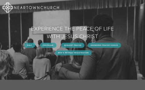 Screenshot of Home Page neartownchurch.org - Neartown Church - captured Sept. 20, 2018