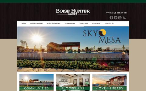 Screenshot of Home Page boisehunterhomes.com - Boise Idaho Custom Home Builders - captured Nov. 6, 2018