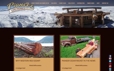 Screenshot of Blog pioneerloghomesofbc.com - Blog   Log Home And Log Cabin Builders   Pioneer Log Homes Of BC - captured May 6, 2018