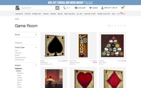 Game Room, Posters and Prints at Art.com