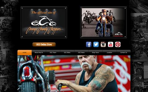 Screenshot of Contact Page orangecountychoppers.com - Orange County Choppers - captured Aug. 5, 2015
