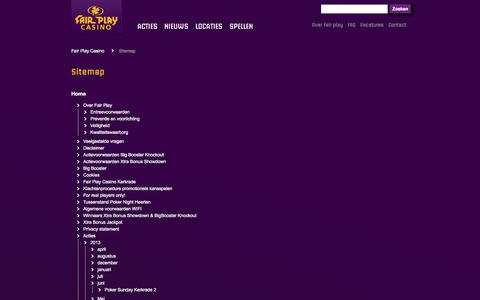 Screenshot of Site Map Page fairplaycasino.nl - Sitemap - Fair Play Casino - captured Oct. 5, 2014