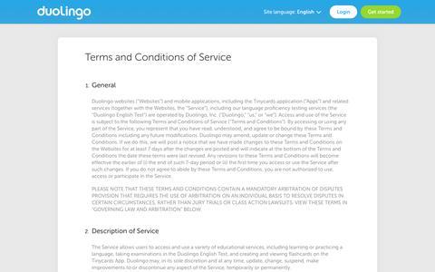 Terms - Duolingo