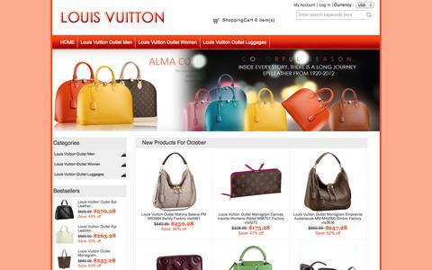 Screenshot of Home Page tirana360.com - louis vuitton bags outlet, discount louis vuitton handbags - captured Oct. 5, 2014
