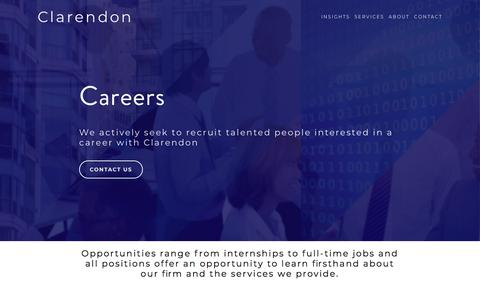Screenshot of Jobs Page clarendon.com - Clarendon | Multifamily Specialist - Careers - captured July 19, 2018