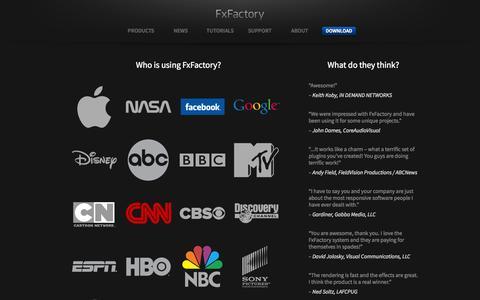 Screenshot of Testimonials Page fxfactory.com - FxFactory Reviews - captured Sept. 22, 2014