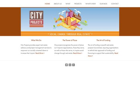 Screenshot of Home Page city-projects.com - City Projects - captured Oct. 2, 2014