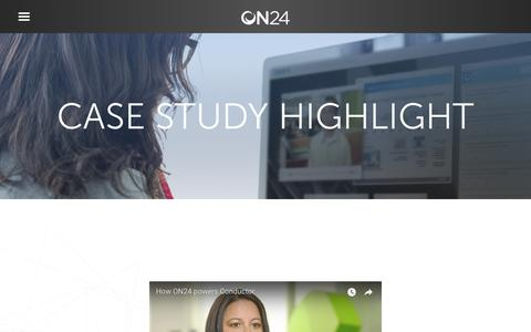 Screenshot of Case Studies Page on24.com - Case Study: Conductor | ON24 - captured Oct. 12, 2017