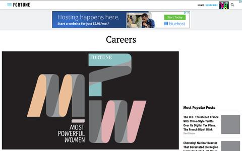 Screenshot of Jobs Page fortune.com - Careers | Fortune - captured July 11, 2019