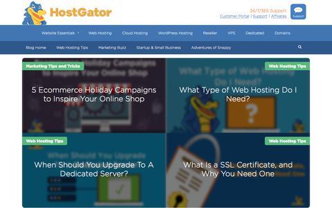 Screenshot of Blog hostgator.com - HostGator Web Hosting Blog | Gator Crossing - captured Sept. 19, 2018