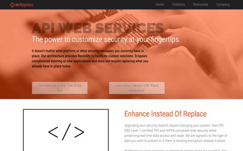Screenshot of Developers Page eclypses.com - Eclypses - captured Nov. 2, 2018