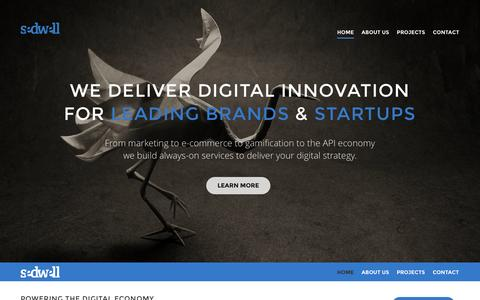 Screenshot of Home Page sedwell.com - Sedwell - Modern Digital Strategy & Services - captured Oct. 7, 2014