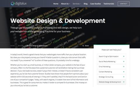 Website Design & Development | Digitalux