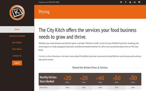 Screenshot of Pricing Page thecitykitch.com - Pricing | The City Kitch - captured Oct. 29, 2014