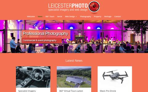 Screenshot of Press Page leicesterphoto.com - News - LeicesterPhoto Services - captured Aug. 1, 2017