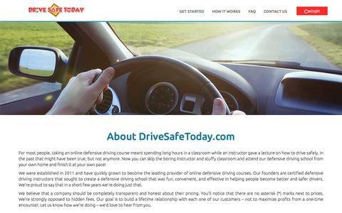Screenshot of About Page drivesafetoday.com - About Us | DriveSafeToday.com - captured Aug. 2, 2016
