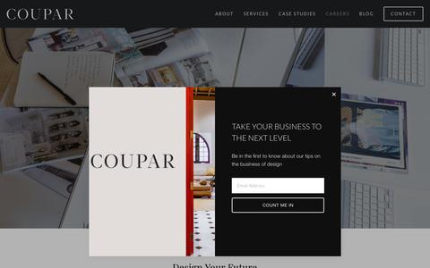 Screenshot of Jobs Page couparconsulting.com - Careers — Coupar - captured Nov. 5, 2018