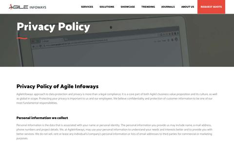 Privacy Policy, Terms & Conditions of Agile Infoways | Agile Infoways