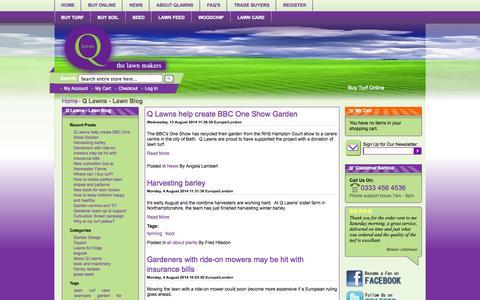 Screenshot of Blog qlawns.co.uk - Q Lawns - Lawn Blog -  Q Lawns - captured Sept. 26, 2014
