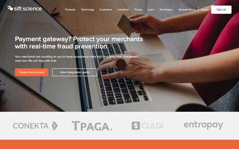Protect your merchants with real-time fraud prevention | Sift Science