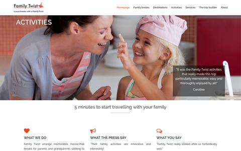 Screenshot of Home Page family-twist.com - Homepage - captured Jan. 8, 2016