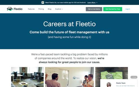 Screenshot of Jobs Page fleetio.com - Work at Fleetio - captured Aug. 3, 2016