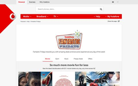 Fantastic Fridays. Get your rewards, tickets and offers - Vodafone NZ
