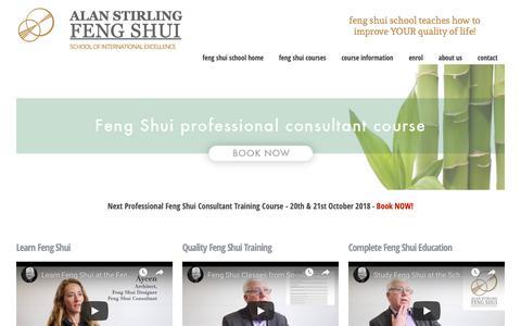 Screenshot of Home Page feng-shui-school.com - Feng Shui School of Excellence - the #1 school for successful feng shui consultants - captured Oct. 30, 2018