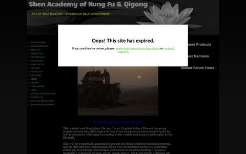 Screenshot of Press Page shenkungfu.com - Shen Academy of Kung Fu & Qigong - News - captured Nov. 29, 2018
