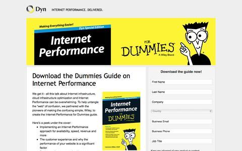 Screenshot of Landing Page dyn.com - Dyn DNS: Internet Performance for Dummies - captured Oct. 30, 2016