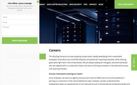Screenshot of Jobs Page dmdsystems.com - DMD Solutions - captured Jan. 9, 2017