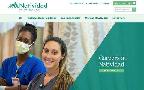 Screenshot of Jobs Page natividad.com - Home - Natividad Human Resources - captured Oct. 18, 2018