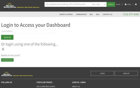 Screenshot of Login Page discountrealtyworks.com - Sign In - captured Oct. 18, 2018