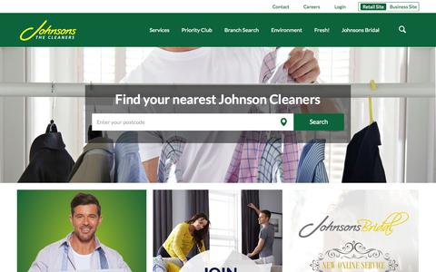 Screenshot of Home Page johnsoncleaners.com - Johnsons Dry Cleaning  | Johnson Cleaners - captured Oct. 1, 2015
