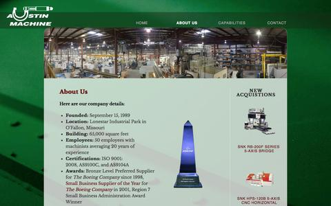 Screenshot of About Page austinmachine.net - About Us - Austin MachineAustin Machine - captured Sept. 30, 2014
