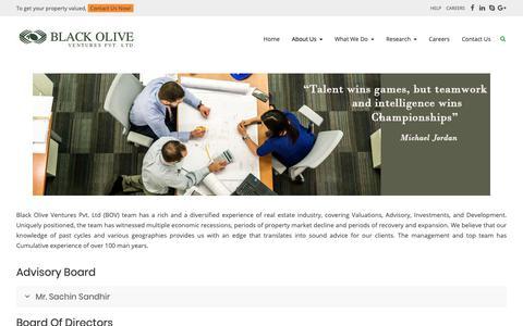 Screenshot of Team Page blackoliveventures.com - Our Team – Black Olive Ventures - captured Oct. 6, 2018