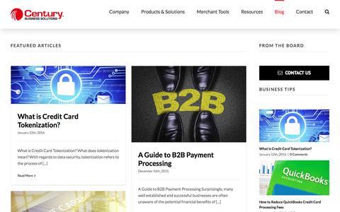 Screenshot of Blog centurybizsolutions.net - Blog | Century Business Solutions - captured April 20, 2016