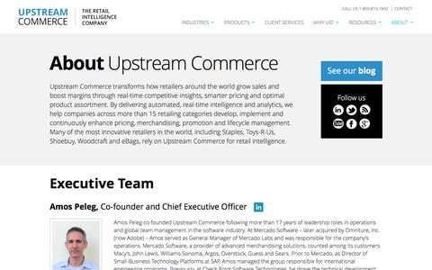 Screenshot of About Page upstreamcommerce.com - About - UpstreamCommerce - captured July 4, 2016