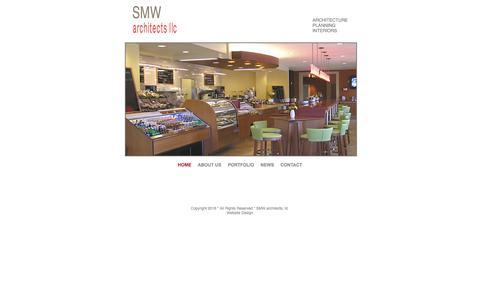 Screenshot of Home Page smw-arc.com - SMW architects - captured Feb. 3, 2016