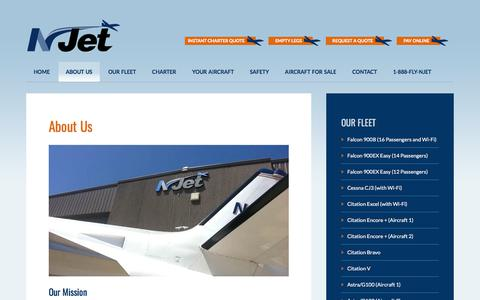 Screenshot of About Page n-jet.com - About Our IL Private Aircraft Charter | Illinois Aviation Services - captured Nov. 13, 2017