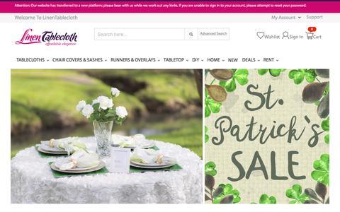 Table Linens - Linen Tablecloth Shopping | LinenTablecloth