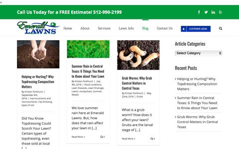 Screenshot of Blog emeraldlawnsaustin.com - Fertilization, Weed Control, Turf & Lawn Care Services | Emerald Lawns, LLC - captured Sept. 28, 2018