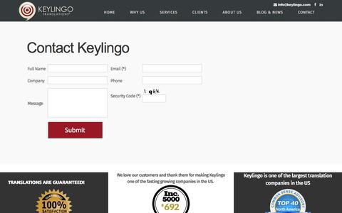 Contact Keylingo | Professional Translation Services Company | Keylingo Translations