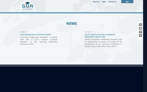 Screenshot of Press Page gunacademy.org - G.U.N Academy - captured Sept. 26, 2014